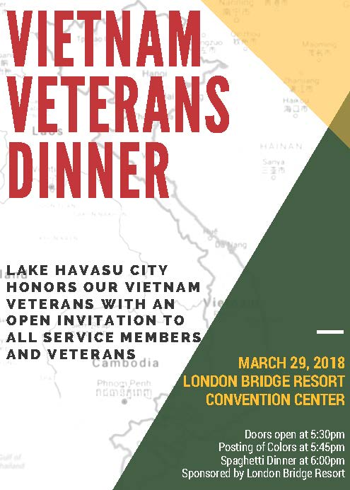 Vietnam Veteran Spaghetti Dinner  Flyer